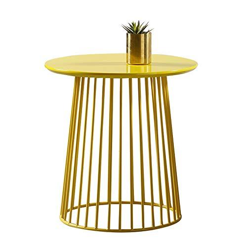 Klapptisch YANFEI, Eisen Tee Tisch Gelb Openwork Draht Tisch (50 * 51CM) -