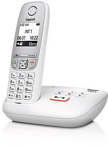 Gigaset A415A Telefon - Schnurlostelefon / Mobilteil mit Grafik Display - Dect-Telefon mit Anrufbeantworter / Freisprechfunktion - Analog Telefon - Weiss - 2