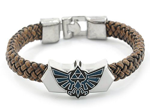 Zelda Armband geflochten mit Hyrule Wappen