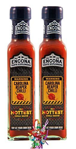 yoaxia  - 2er Pack - [ 2x 142ml ] Carolina Reaper Chilli Sauce / Scharfe Chili Sauce...