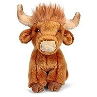 Animigos World of Nature 20cm Plush Highland Cow Soft Toy