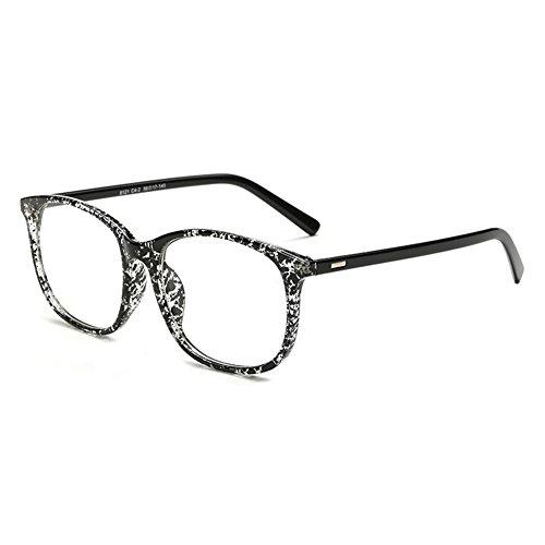 Hibote Männer Frauen Gläser - Klare Linse Brillengestell - Brillen + Brillenetui gratis 122804