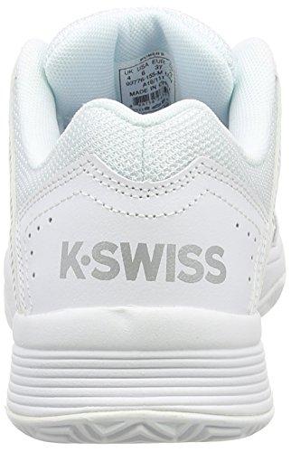K-Swiss Court Impact HB, Scarpe da Tennis Donna Bianco (White (White/Silver 155))