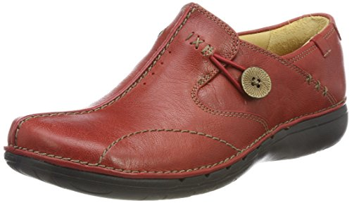 Clarks Loop, Mocassini Donna Rosso (Red)