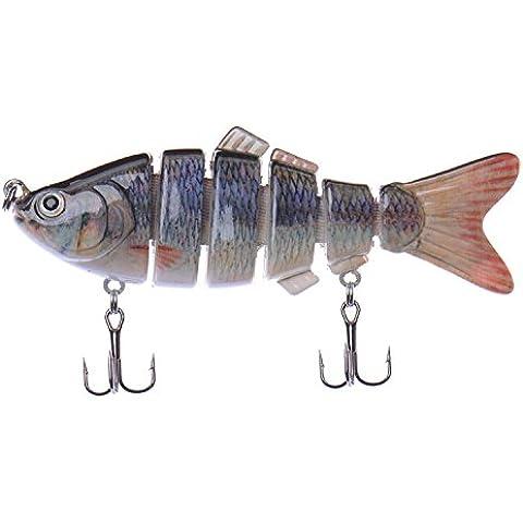 Señuelos de Pesca Swimbaits Multi articulado pesca realista Crankbaits duro cebos señuelos de pesca de lucio Musky Killer Mar para bajo,