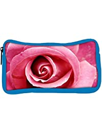 Snoogg Eco Friendly Canvas Pink Rose Designer Student Pen Pencil Case Coin Purse Pouch Cosmetic Makeup Bag