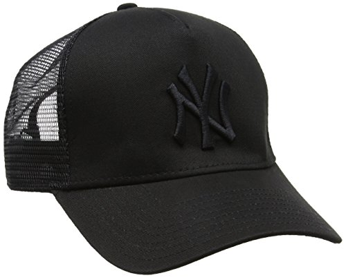 New Era Herren MLB Essential Trucker New York Yankees Baseball Cap, Schwarz, One Size (New York Yankees Baseball Cap)