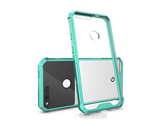 Google Pixel XL Hülle, Cocomii Modern Armor NEW [Crystal Clarity] Premium HD Clear Anti-Scratch Shockproof Hard Bumper Shell [Slim Fit] Full Body Ultra Thin Lightweight Transparent Cover Case Schutzhülle (Mint)