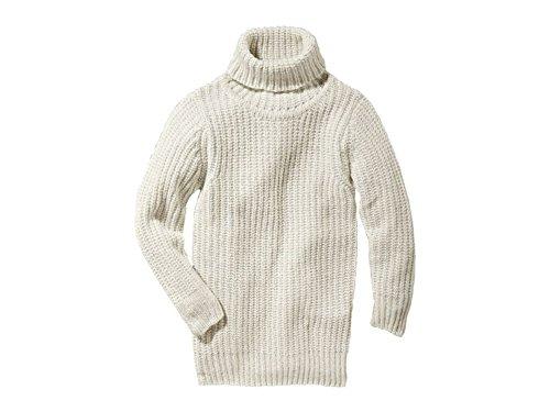 Mädchen Pulloverkleid weiß Pulloverkleid Strickkleid (134/140)