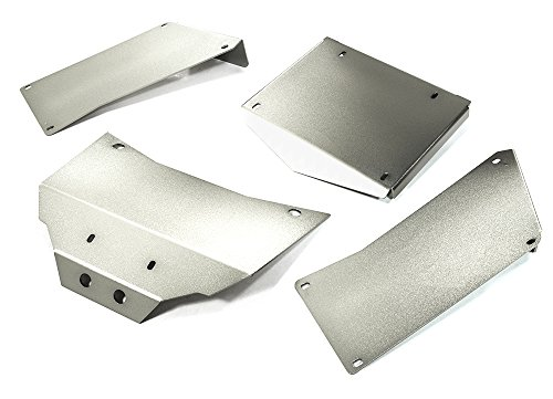 Integy RC Model Hop-ups C27003SILVER Aluminum Alloy Body Panel Kit for Axial 1/10 RR10 Bomber 4WD (Body Kit Rc Car Drift)