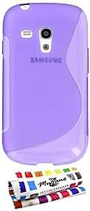 MUZZANO Coque Souple Ultra-Slim - Le S - Premium Violet pour SAMSUNG GALAXY S3 MINI ( I8190 )