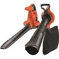 BLACK+DECKER GW3030 Aspirateur, Souffleur, Broyeur de feuilles filaire - 3000 W - Volume d'aspiration : 14 m3/min - Capacité : 50 L - 1 embout concentrateur et 1 sangle