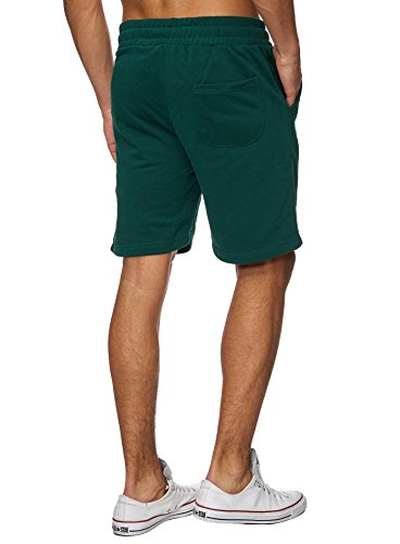 Reslad Kurze-Hose Herren Jogginghose Kurz Sweat-Shorts Basic Sport-Hose Freizeit Sweat-Hose RS-5061 Grün
