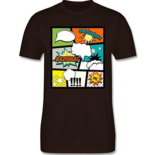 Comic Shirts - Comic Buchseite - Herren Premium T-Shirt Braun