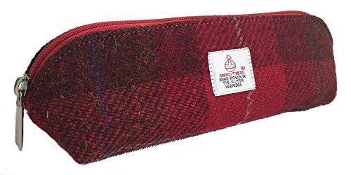 Traditionelle Mäppchen aus echtem Harris Tweed (Rot)