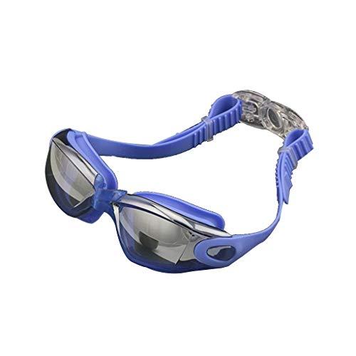 YFFSS Schwimmbrille mit verspiegelten oder klaren Gläsern, UV-Schutz und Antibeschlagbeschichtung - HD-Antibeschlagschutzbrille für Männer und Frauen wasserdichte Schwimmbecken-High-End-Schwimmbrille