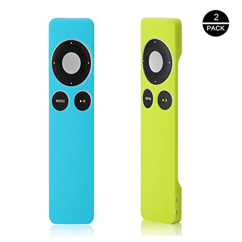 OOTSR Schutzhülle kompatibel für Apple TV 2nd 3rd Remote Controller [2er-Pack: Blau + Grün], rutschfeste, stoßfeste Gummihülle Silikonhülle für Apple TV 2nd 3rd Remote