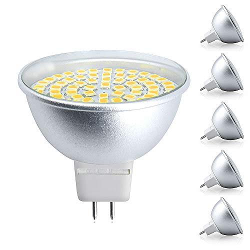 Bonlux GU5.3 MR16 LED Lampe 5W AC220-240V Reflektor Spotlicht Warmweiß 3000K 120 Grad als Ersatz für 50W Halogenbirne/Halogenglühlampe (5-Stück, Nicht Dimmbar) -