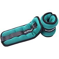 BalanceFrom GoFit Fully Adjustable Ankle Wrist Arm Leg Weights, 1.5 lbs each (3-lb pair), Green