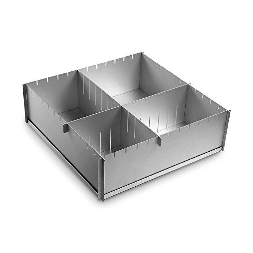 Cynthia Barcomi Kitchenware Multisize-Backform antihaft 30 x 30 x 10 cm 5 tlg. silber Aluminium antihaft eckig
