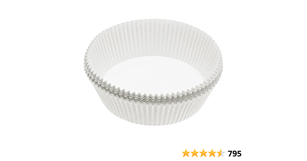 Pack de 40 20 cm Kitchencraft Antiadhésif ronde papier Cake Tin paquebots