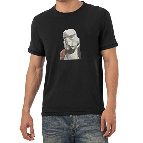 TEXLAB - Low Poly Trooper - Herren T-Shirt Schwarz