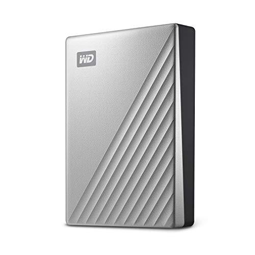 WD MY Passport Ultra externe Festplatte  4 TB (mobiler Speicher, Metallgehäuse, WD Discovery Software, automatische Backups, Passwortschutz) Silber