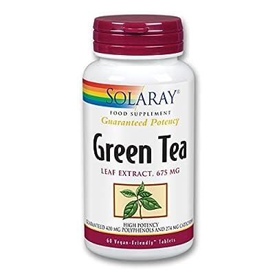Solaray Green Tea Double Strength Tablets - Pack of 60 from Solaray
