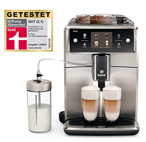 Saeco Xelsis SM7685/00 Kaffeevollautomat (innovativer Touchscreen) Edelstahl