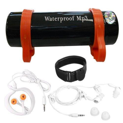 SODIAL(R) 8GB MP3 WMA Player Spieler USB Wasserdicht Wasserfest Schwarz