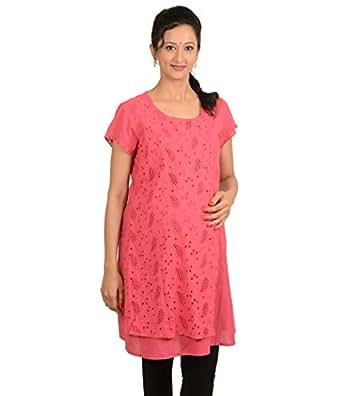 Kriti Ethnic Maternity Pink Nursing Kurta