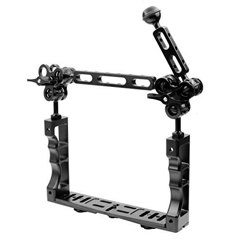 TOOGOO CNC Tauchen Unterwasser Licht Arm System DREI Clip Tray Halterung Griff Stabilisator Video DSLR Cam Torch -