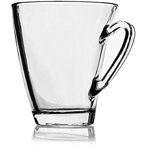 X&L 350ml creativo vela caffè tazza vetro multiuso vetro tazza latte tazza casa tazza pratico Coppa Coppa Europa bar ristorante quotidiana vita partito festa a tema (10,8 * 9.5 * 5cm)