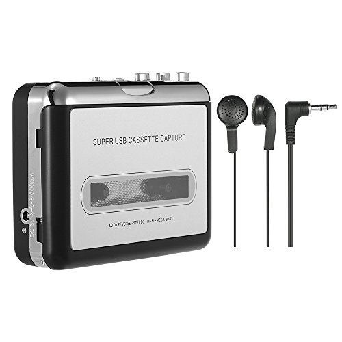 Docooler USB Convertidor Cinta MP3 and Cassette Player,Convierte