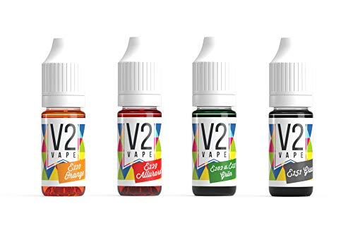 V2 Vape Lebensmittelfarbe extrem hoch konzentriert, flüssig Set HALLOWEEN Edition 4 x 10ml zum Färben von Getränken, Teig, Toppings und alle anderen Lebensmittel