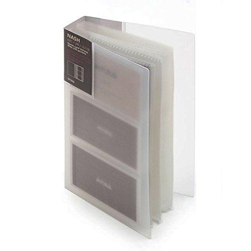 Kunststoff-wallet-bild-halter (gossipboy transluzenten Kunststoff-120/240Business Tagebuch Name Blumendruck Book Brieftasche Busniess Karte Storage Halter Pouch, plastik, weiß, 120 Cards)