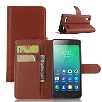 Litchi Texture Horizontal Flip Leather Case for Lenovo A6010 & A6000 Plus, with Wallet & Holder & Card Slots (Brown)