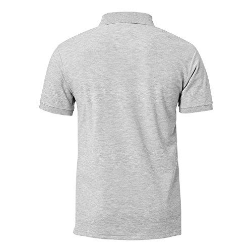 Kempa Polo Shirt Prime grau mélange/schwarz