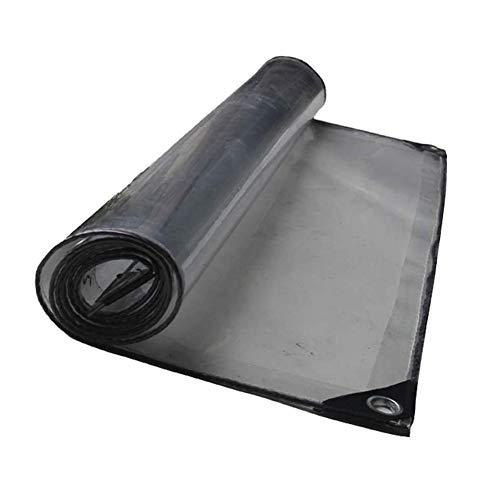 Wasserdichtes Tuch transparent, dick wasserdicht, gartenhaus Tuch Isolierung frostschutzmittel, pe Kunststoff Film Balkon Fenster windschutzscheibe (Color : Clear, Size : 2.3x4m)