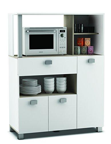 habeig Küchenschrank 146 weiß Kü...