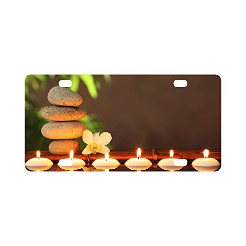 qidushop Schmink-Kerzen mit Zen-Steinen und Aroma-Kerzen, Spa, Zen-Konzept, Humor, Chrom-Aluminium