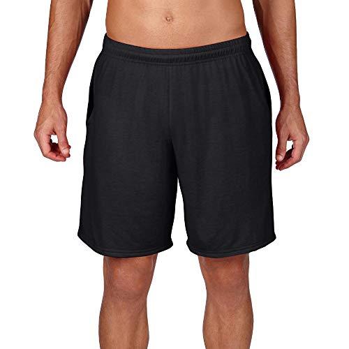 Gildan - Herren Performance Shorts mit Taschen/Black, L