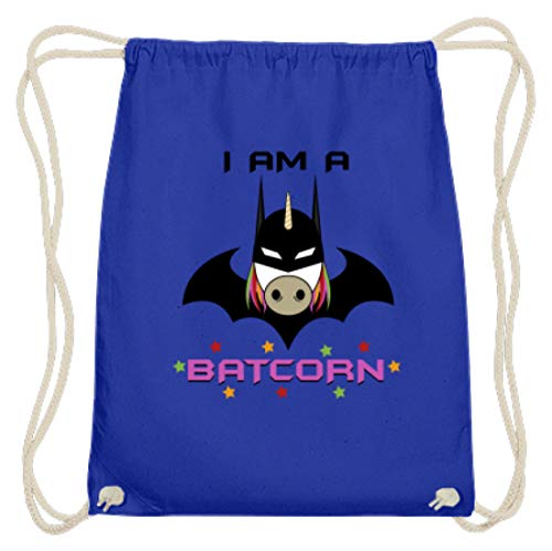 I Am A Batcorn - Fledermausmann, Superheld, Vorbild, Gotham City, Einhorn, Unicorn, Pferd - Baumwoll Gymsac