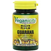 Veganicity Guarana 750mg Energy Supplement - 60
