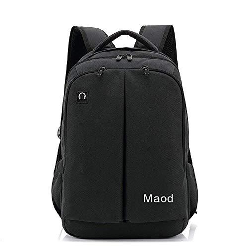 JIAOO Multifunktions Herren Business Daypacks männer Laptop Backpack wasserfest Schulrucksack Groß Nylon Schultasche Notebook Rucksack 15.6 Zoll Mit Multi-Tasche (schwarz)