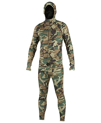 Airblaster Herren Kapuzen Outdoor Base Layer Ninja Anzug, Herren, camouflage (Snowboard-anzug Stück Ein)