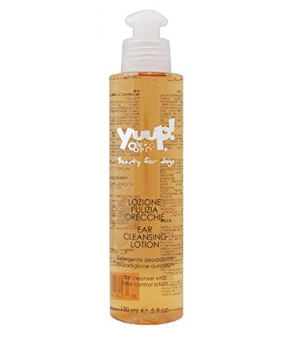 Yuup Lozione Pulizia Orecchie - Detergente per l'igiene quotidiana del padiglione auricolare, per cane e gatto