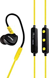Intex BT-13 Wireless Sports Bluetooth Earphones - Yellow