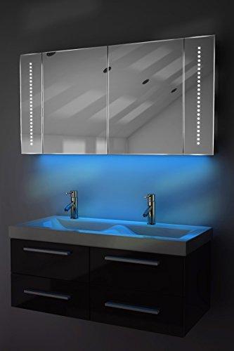 Badezimmerspiegelschrank mit Raumbeleuchtung, 120 cm - 2