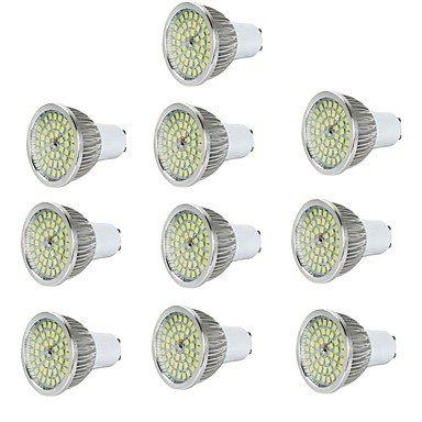 10pcs 5W 550 lm GU10 Spot LED 48 diodes électroluminescentes SMD 2835 Décorative Blanc Chaud Blanc Froid AC 85-265V (Angle de Rayonnement : 90°, Connecteur : GU5.3-Blanc froid-10-85-265V)